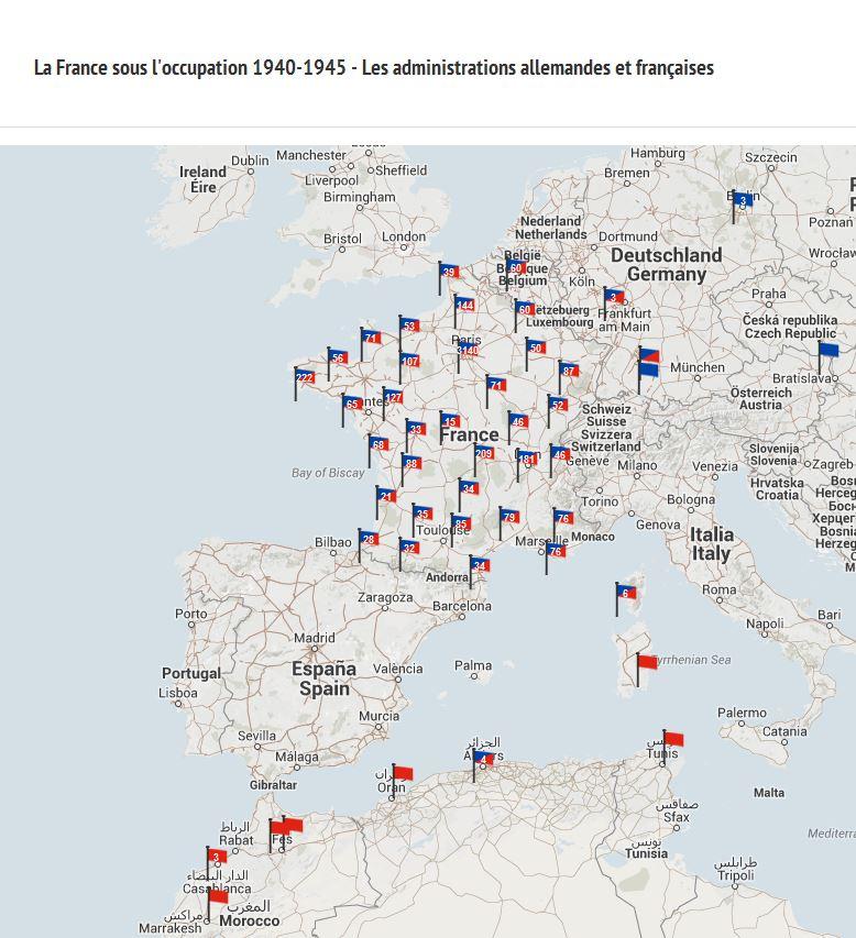2 Weltkrieg Karte.La France Occupee Ein Neues Forschungsinstrument Zur